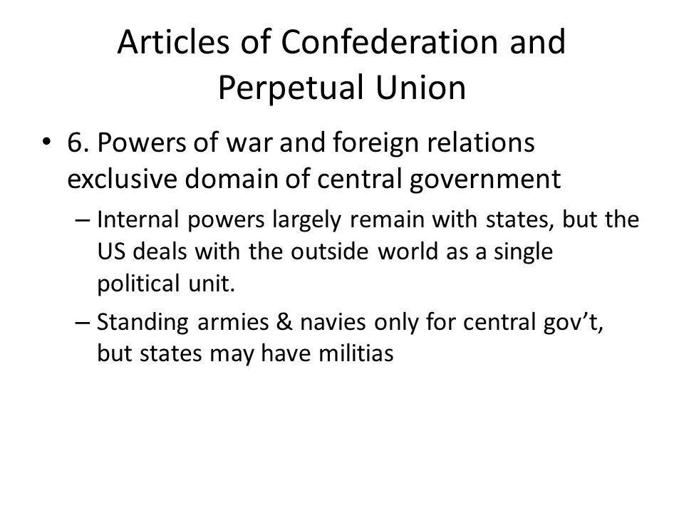Articles of Confederation and Perpetual Union