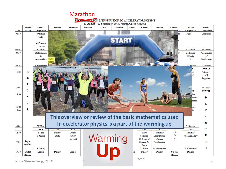 However, before you start a marathon, you need a proper warming-up