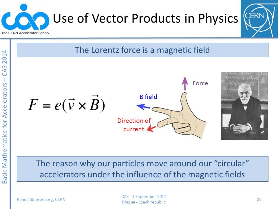 Use of Vector Products in Physics