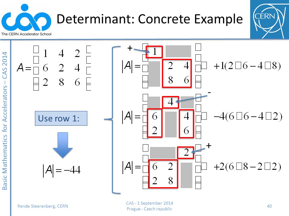 Determinant: Concrete Example