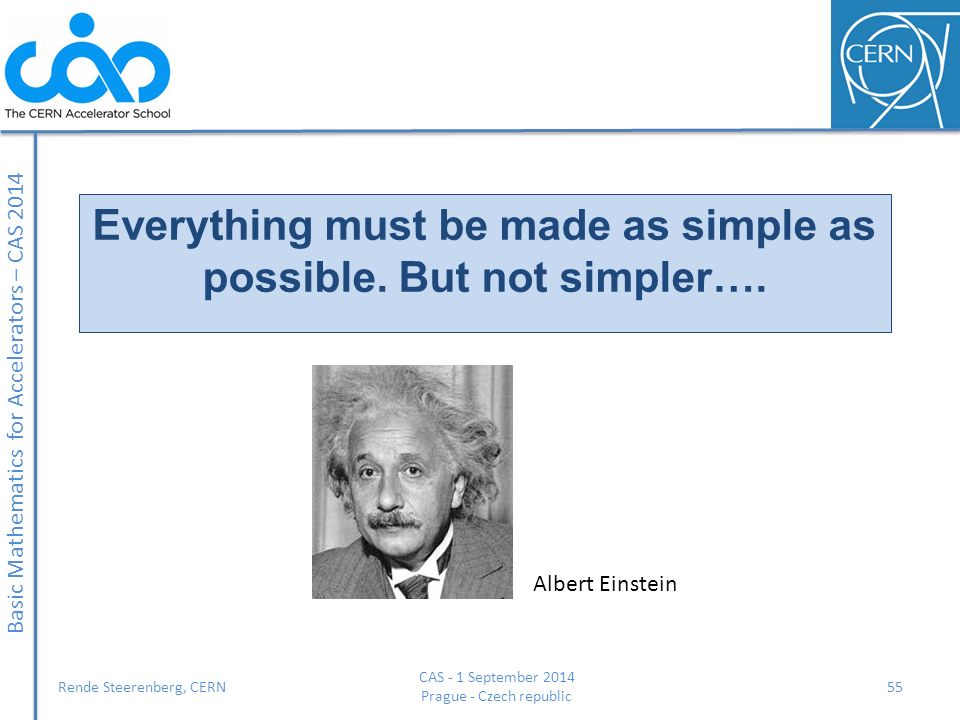 Everything must be made as simple as possible. But not simpler….
