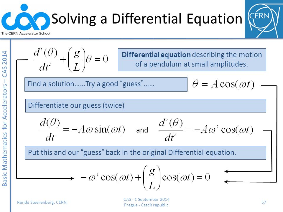 Solving a Differential Equation
