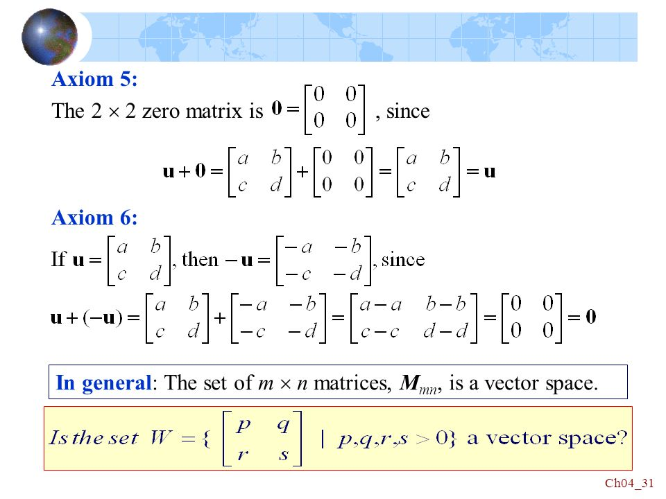 linear algebra chapter 4 vector spaces