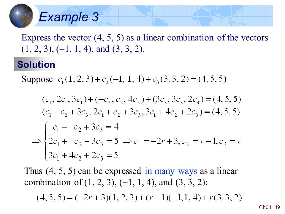 Linear Algebra Chapter 4 Vector Spaces. - ppt download