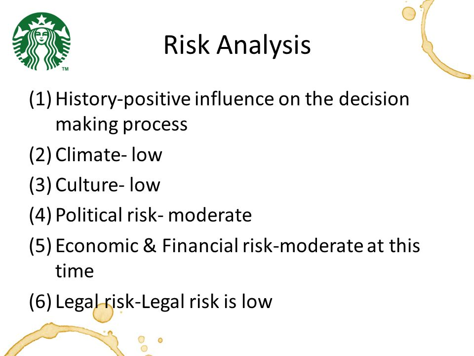 decision making process at starbucks According to a new profile of schultz by george anders in forbes, at a recent staff meeting schultz jumped in with a critique of some cards introducing starbucks' new partnership with spotify.