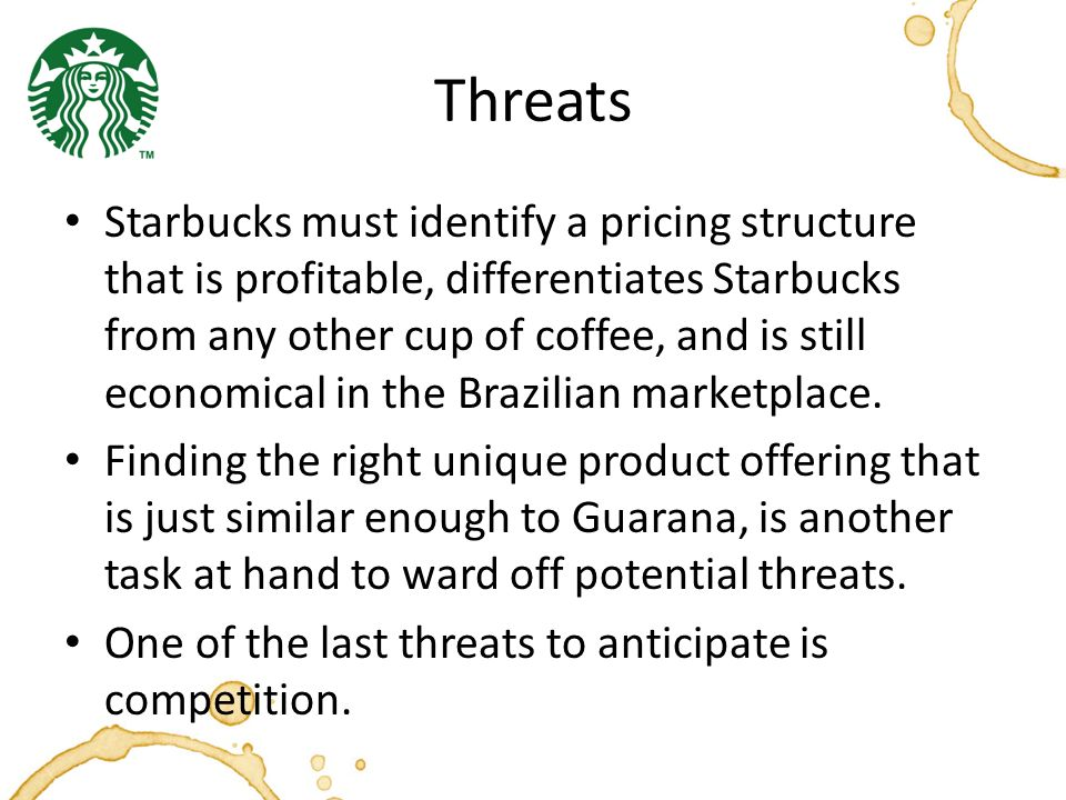 market structure of starbucks coffee and other coffee houses The retail value of the us coffee market is estimates based on prior data from mintel group in combination with a review of selected filings & other.