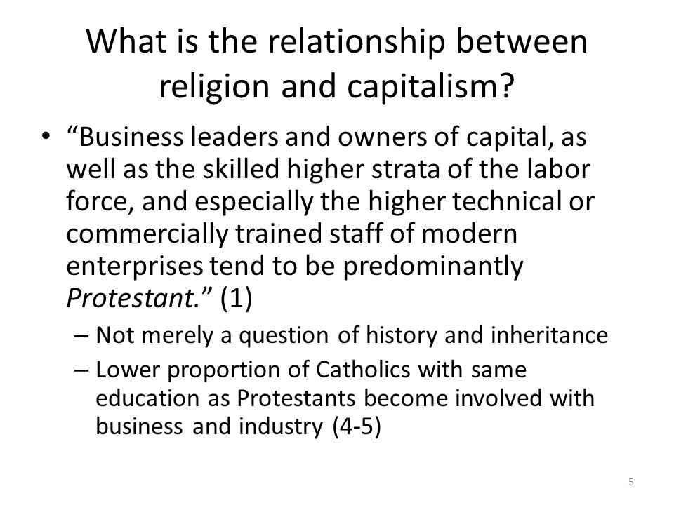 What is the relationship between religion and capitalism