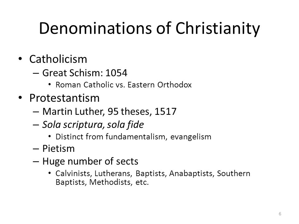Denominations of Christianity
