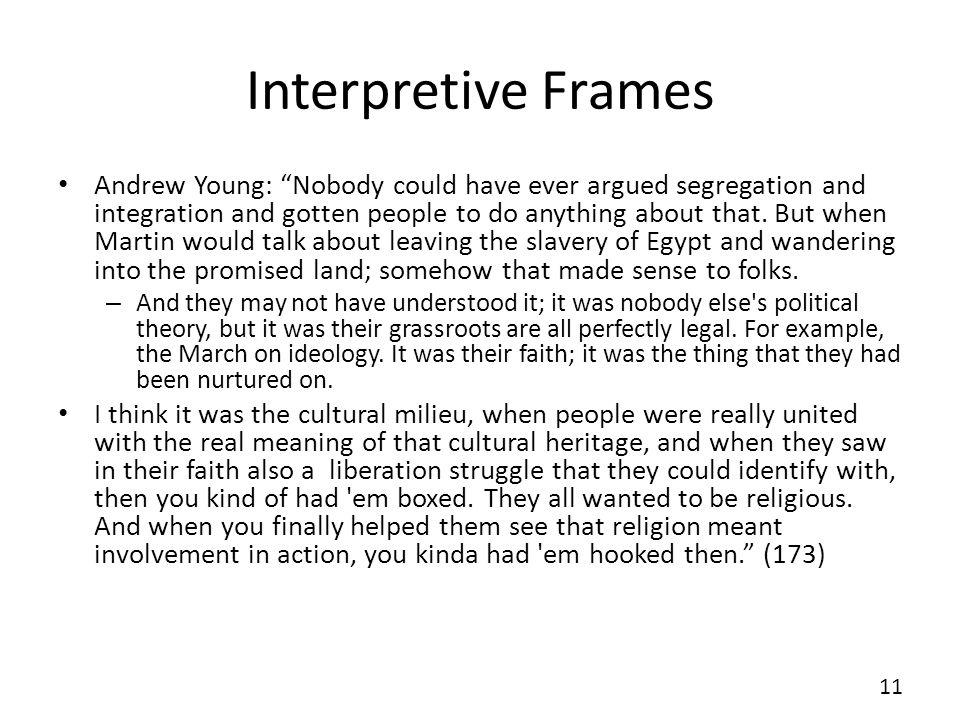 Interpretive Frames
