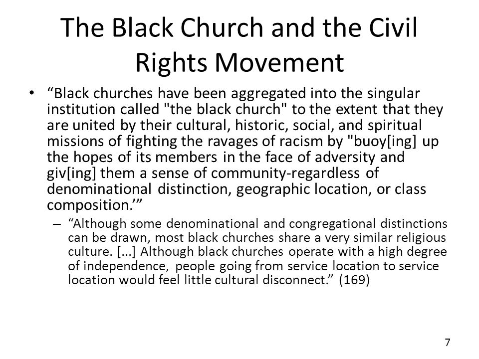 The Black Church and the Civil Rights Movement