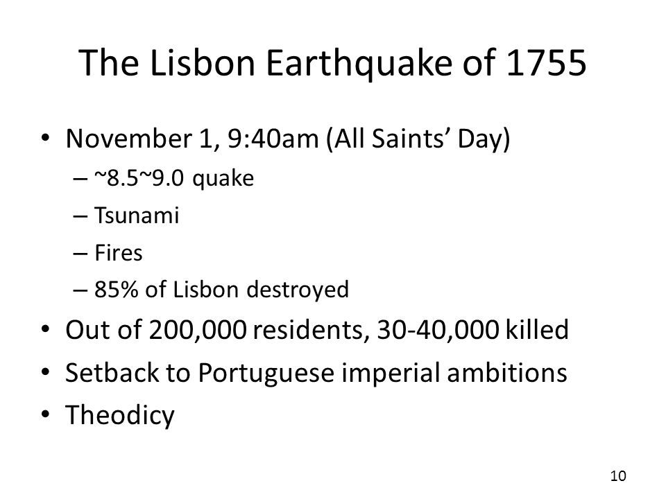 The Lisbon Earthquake of 1755