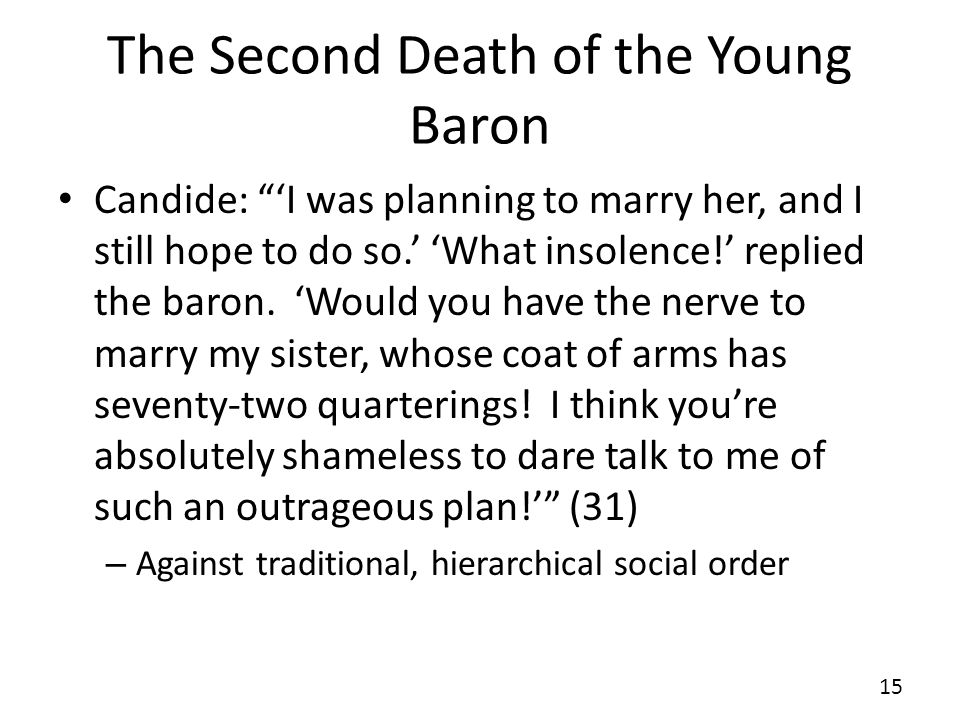 The Second Death of the Young Baron