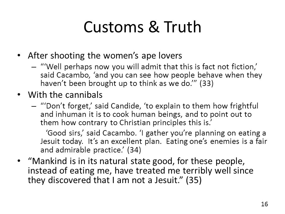 Customs & Truth After shooting the women's ape lovers