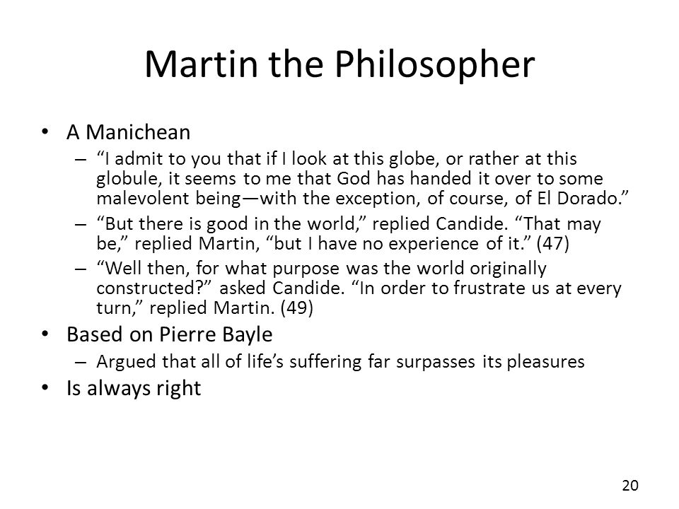 Martin the Philosopher