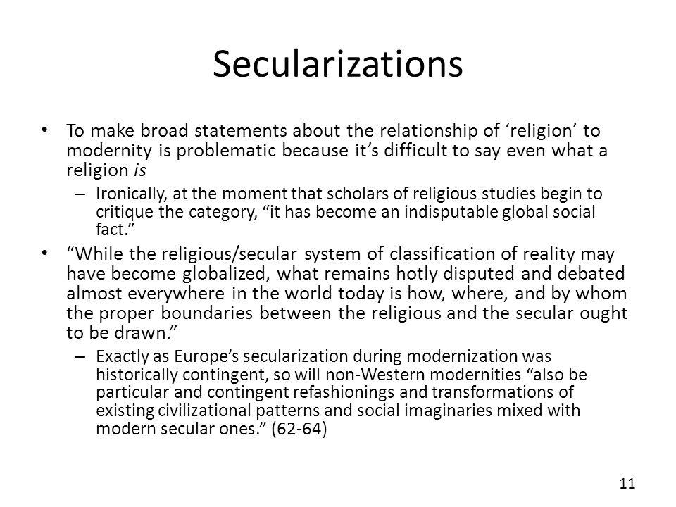 Secularizations