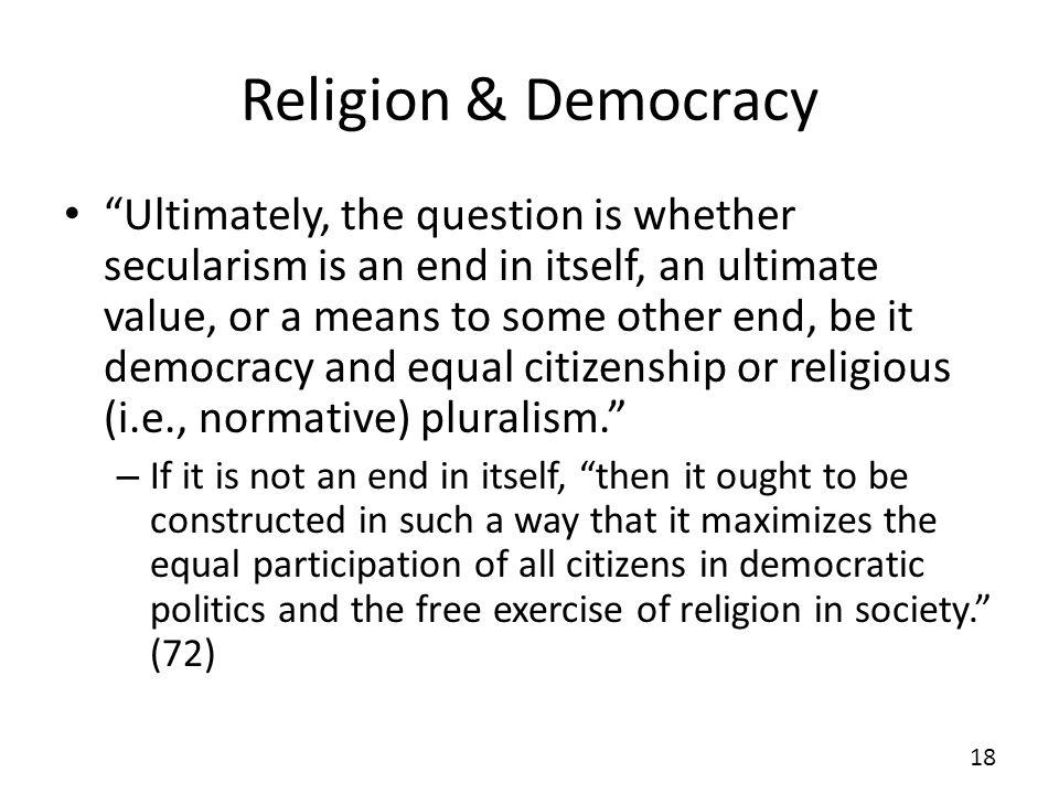 Religion & Democracy