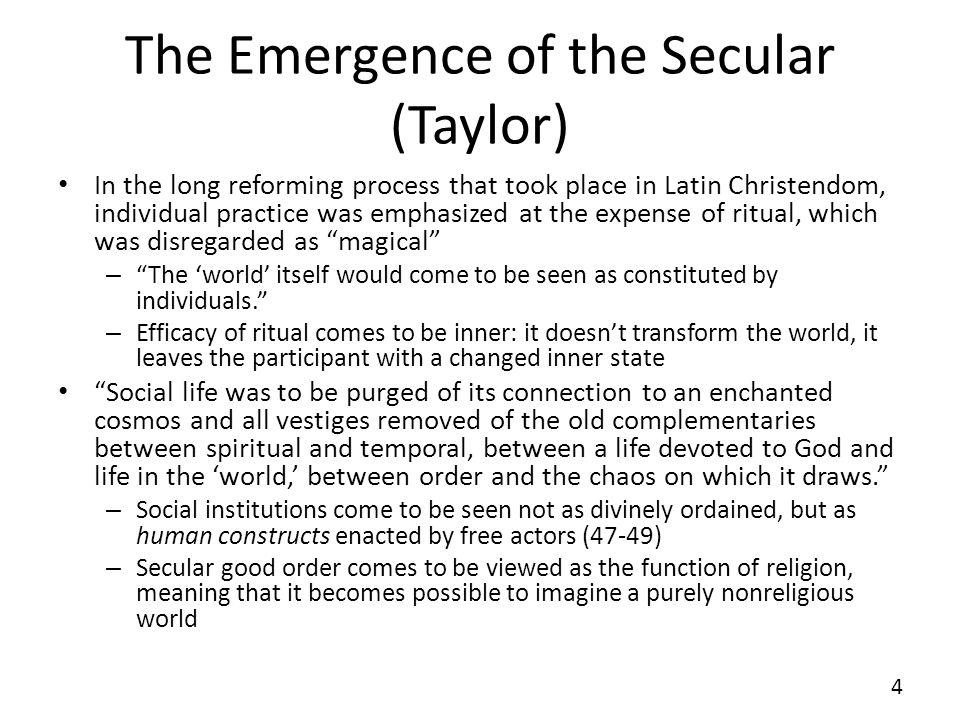 The Emergence of the Secular (Taylor)