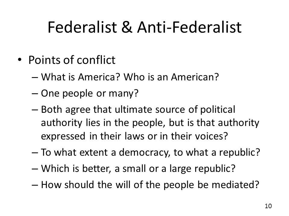 Federalist & Anti-Federalist