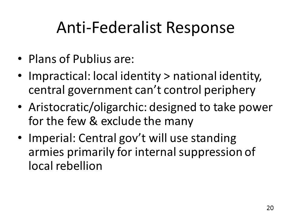 Anti-Federalist Response