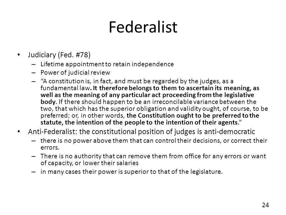 Federalist Judiciary (Fed. #78)
