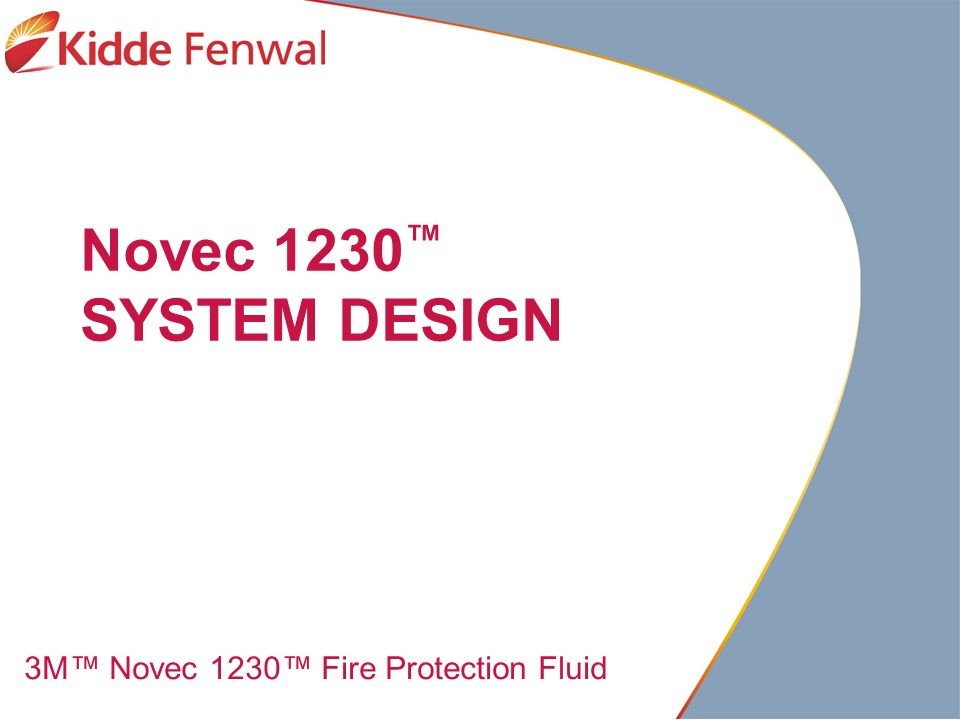 Novec 1230 System Design 3m Novec 1230 Fire Protection Fluid Ppt Video Online Download
