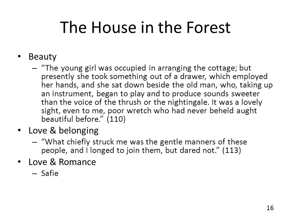 The House in the Forest Beauty Love & belonging Love & Romance