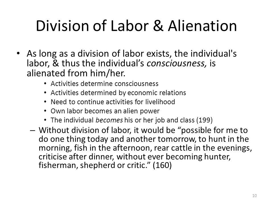 Division of Labor & Alienation