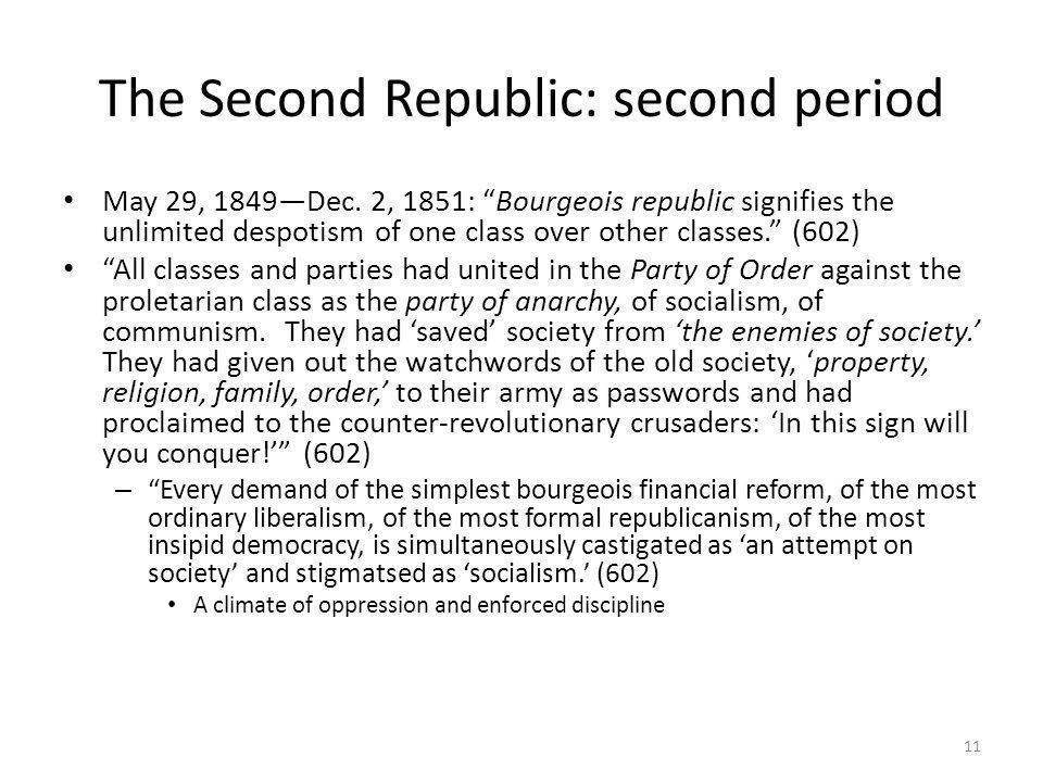 The Second Republic: second period