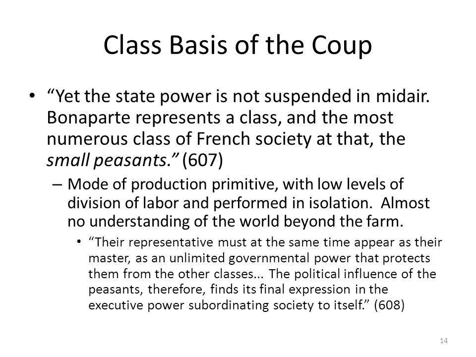 Class Basis of the Coup