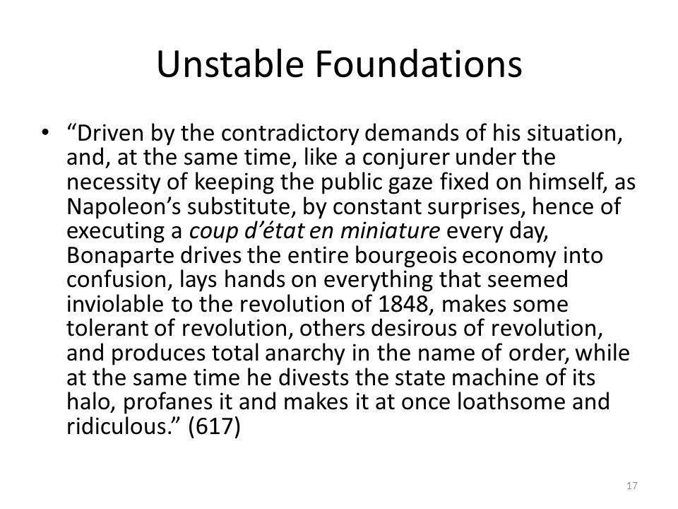 Unstable Foundations