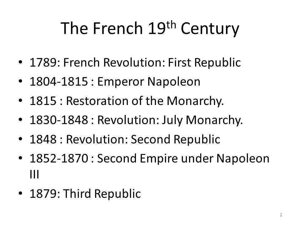 The French 19th Century 1789: French Revolution: First Republic