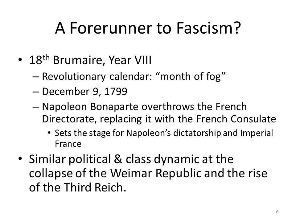 A Forerunner to Fascism