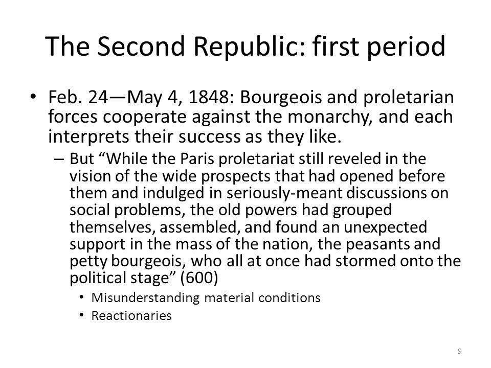 The Second Republic: first period
