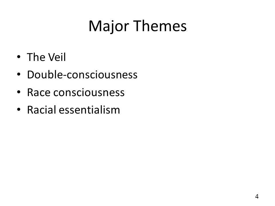 Major Themes The Veil Double-consciousness Race consciousness