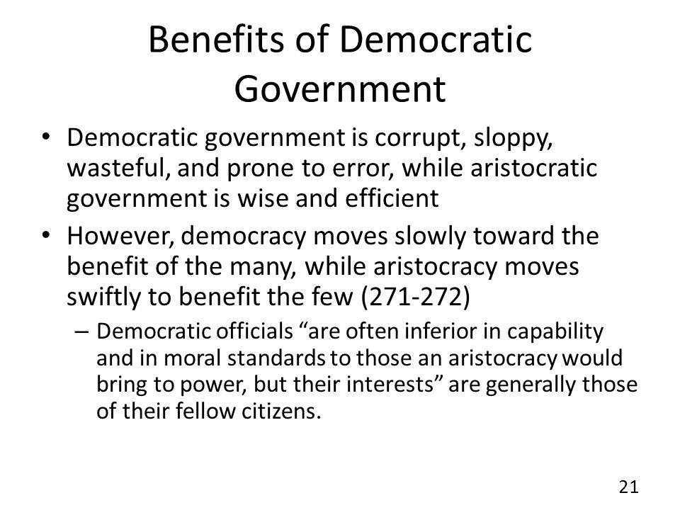 Benefits of Democratic Government