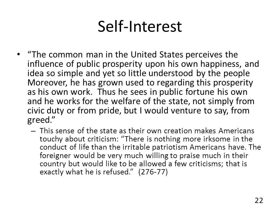 Self-Interest