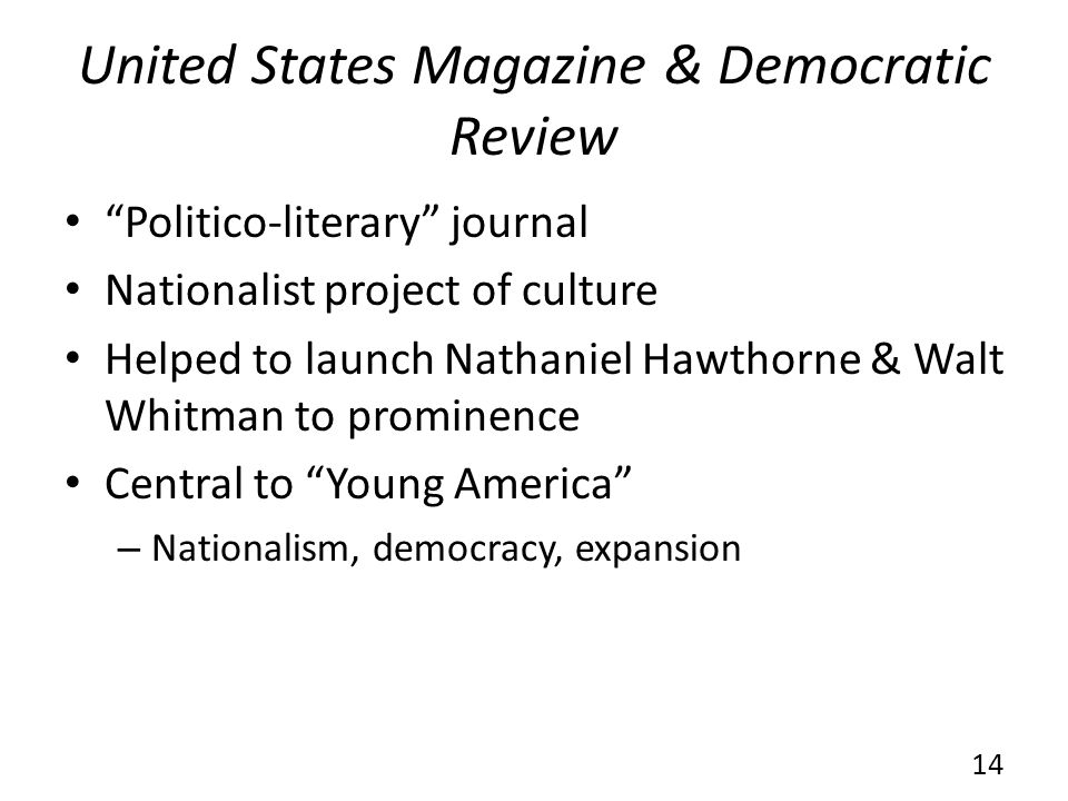 United States Magazine & Democratic Review