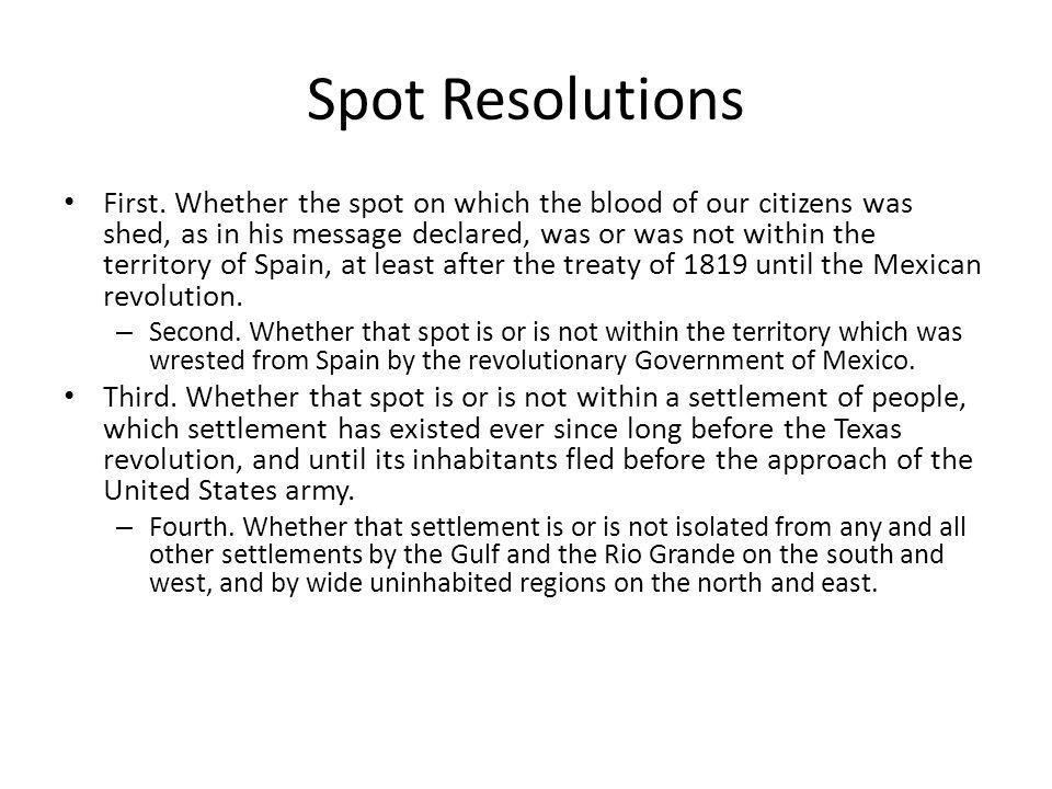 Spot Resolutions