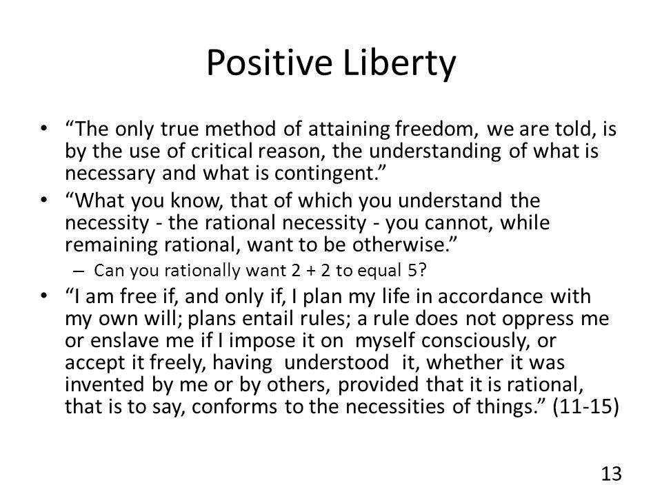 Positive Liberty