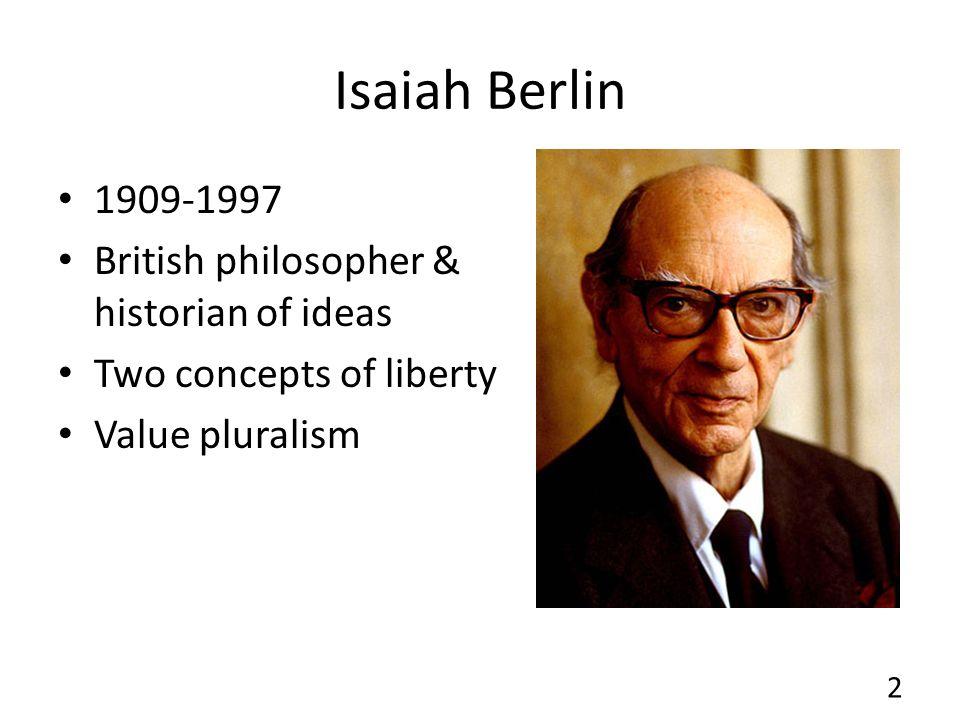 Isaiah Berlin 1909-1997 British philosopher & historian of ideas