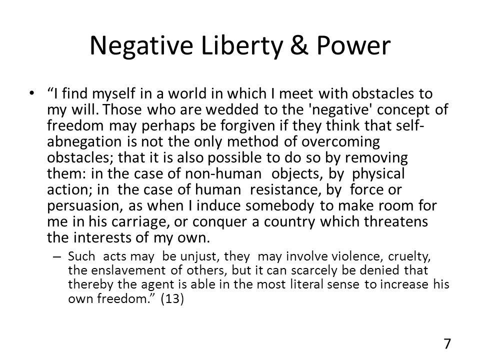 Negative Liberty & Power