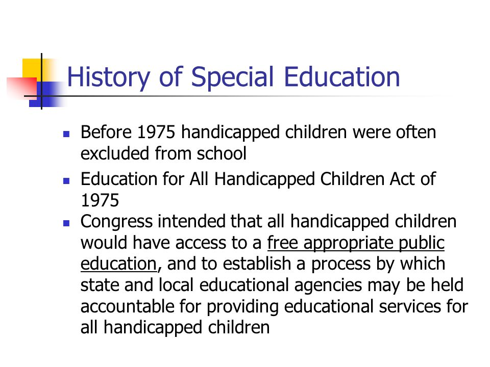 history of special educaion A history of sex education from the second world war to the modern day  a brief history of sex education  updated  with special reference to sex.