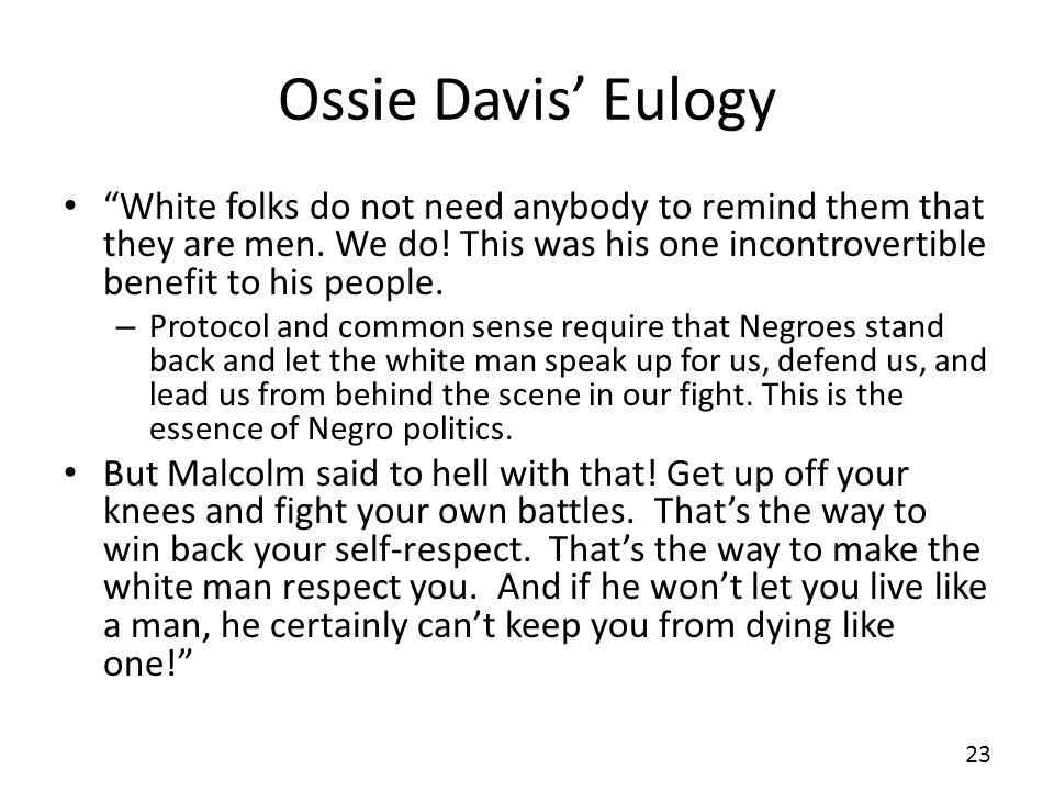 Ossie Davis' Eulogy