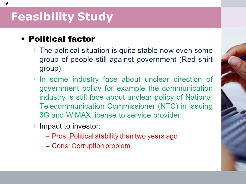 Feasibility Study Political factor