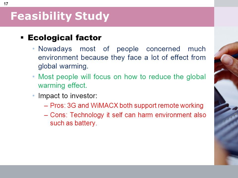 Feasibility Study Ecological factor