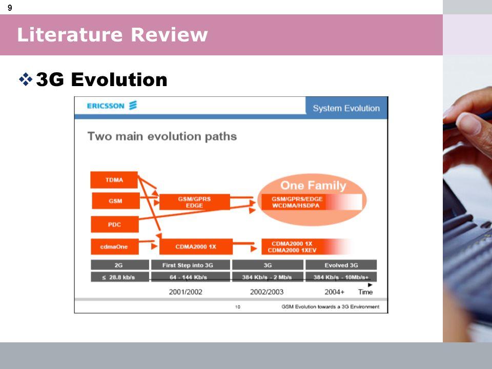 Literature Review 3G Evolution