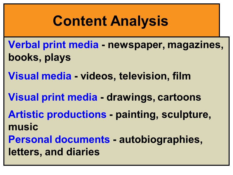 Newspaper content analysis research