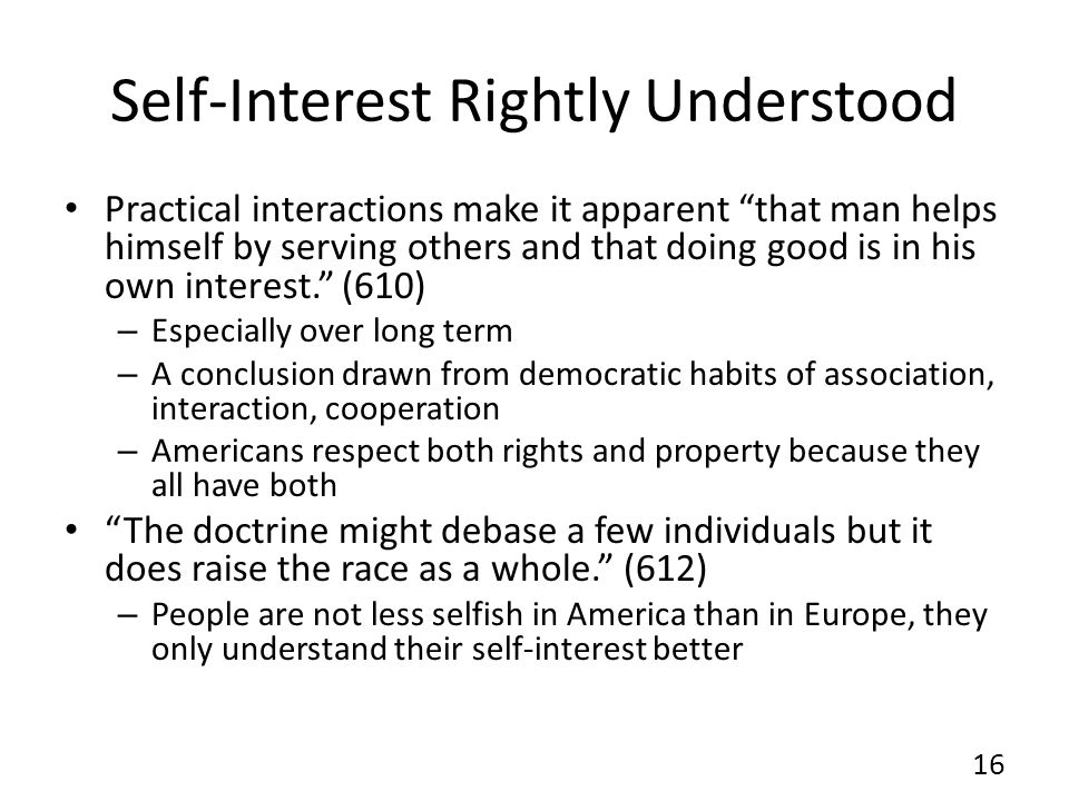 Self-Interest Rightly Understood