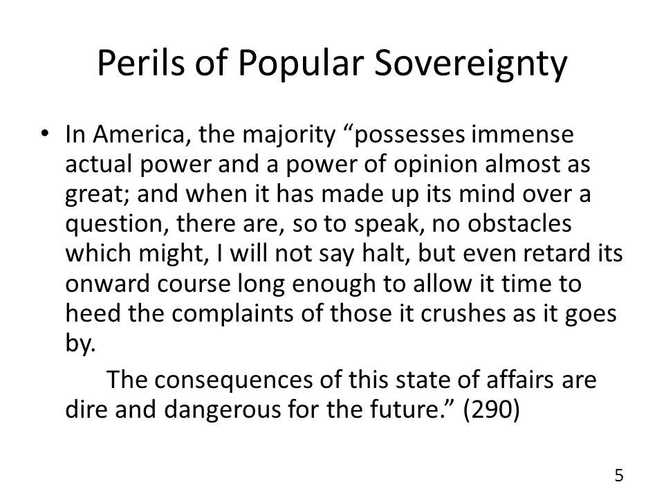 Perils of Popular Sovereignty