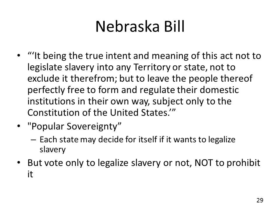 Nebraska Bill